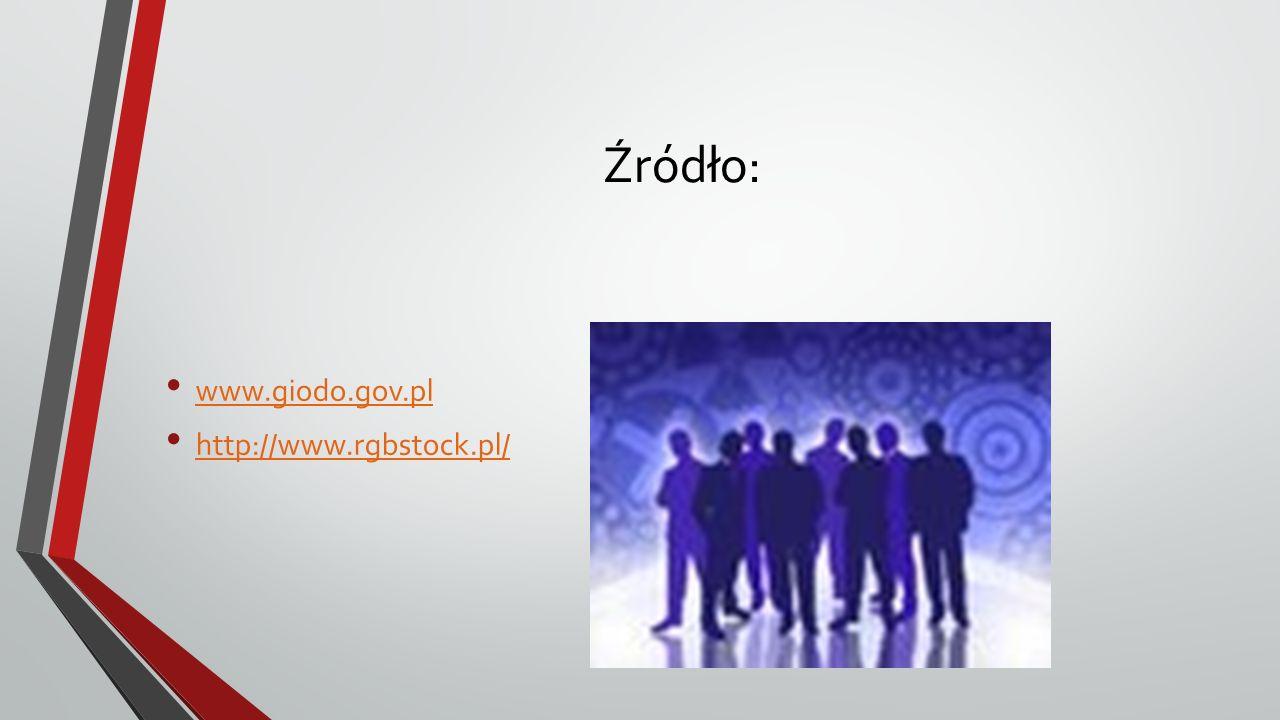 Źródło: www.giodo.gov.pl http://www.rgbstock.pl/