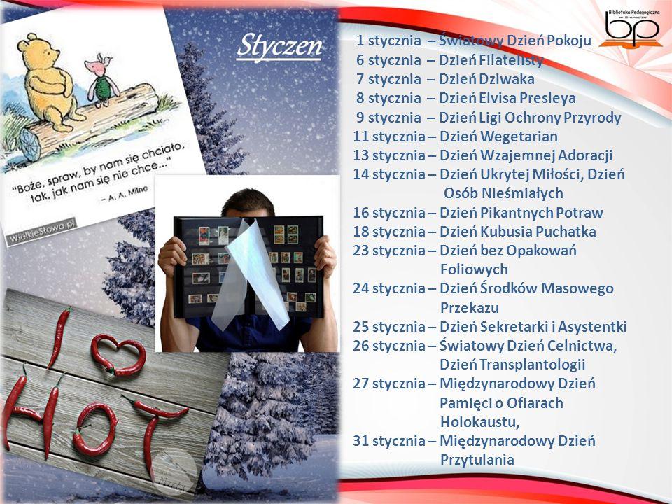 1 grudnia – Światowy Dzień Walki z AIDS 5 grudnia - Dzień Wolontariusza 10 grudnia - Dzień Praw Człowieka 13 grudnia – Dzień Księgarza, Dzień Telewizji dla Dzieci 15 grudnia - Dzień Herbaty 17 grudnia – Dzień bez Przekleństw 18 grudnia – Międzynarodowy Dzień Emigrantów 20 grudnia – Dzień Ryby 21 grudnia – Światowy Dzień Pozdrawiania Brunetek 23 grudnia – Światowy Dzień Snowboardu 24 grudnia – Dzień Raju 27 grudnia – Dzień odpoczynku po świętach 28 grudnia – Międzynarodowy Dzień Całowania 29 grudnia – Dzień Narodzin Niedźwiedzi Polarnych 31 grudnia – Dzień bez Bielizny