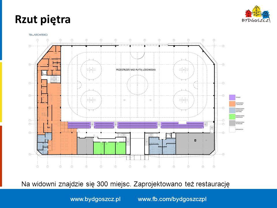 www.bydgoszcz.pl www.fb.com/bydgoszczpl Rzut piętra Na widowni znajdzie się 300 miejsc. Zaprojektowano też restaurację
