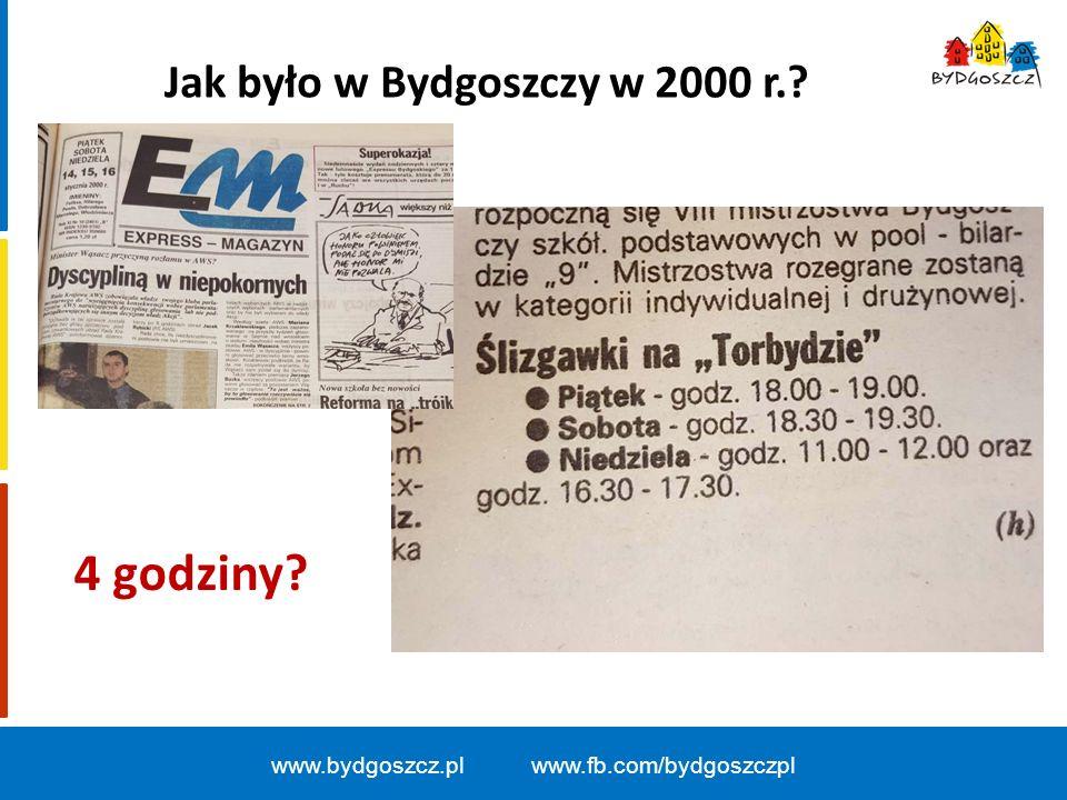 www.bydgoszcz.pl www.fb.com/bydgoszczpl Jak było w Bydgoszczy w 2000 r.? 4 godziny?