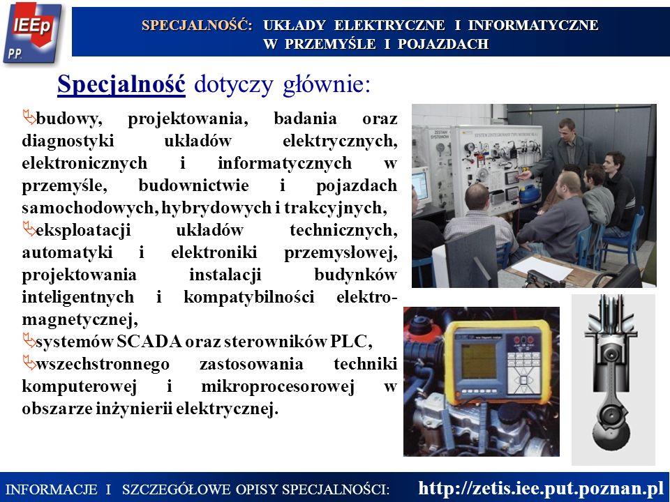 23  budowy, projektowania, badania oraz diagnostyki układów elektrycznych, elektronicznych i informatycznych w przemyśle, budownictwie i pojazdach sa