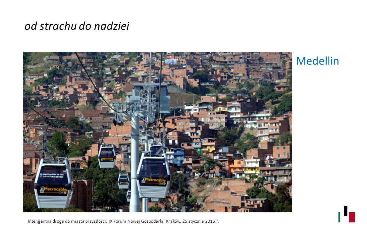 Medellin od strachu do nadziei Inteligentna droga do miasta przyszłości, IX Forum Nowej Gospodarki, Kraków, 25 stycznia 2016 r.