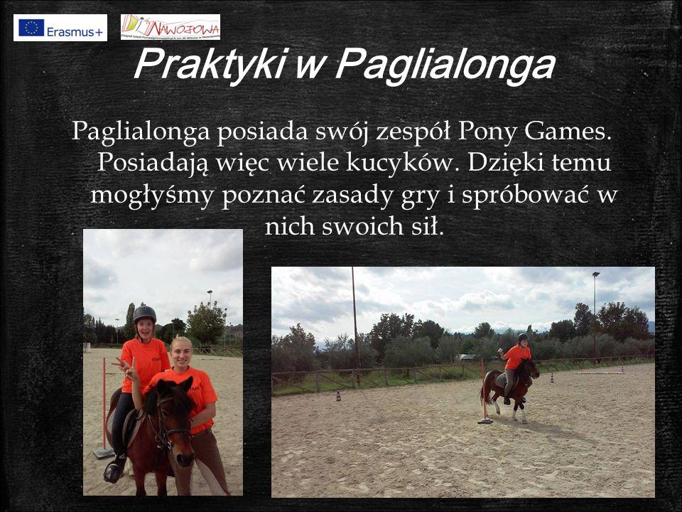 Praktyki w Paglialonga Paglialonga posiada swój zespół Pony Games.