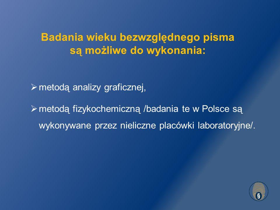 Zapis z 2001 r. Zapis z 2008 r. Metoda graficzno-porównawcza