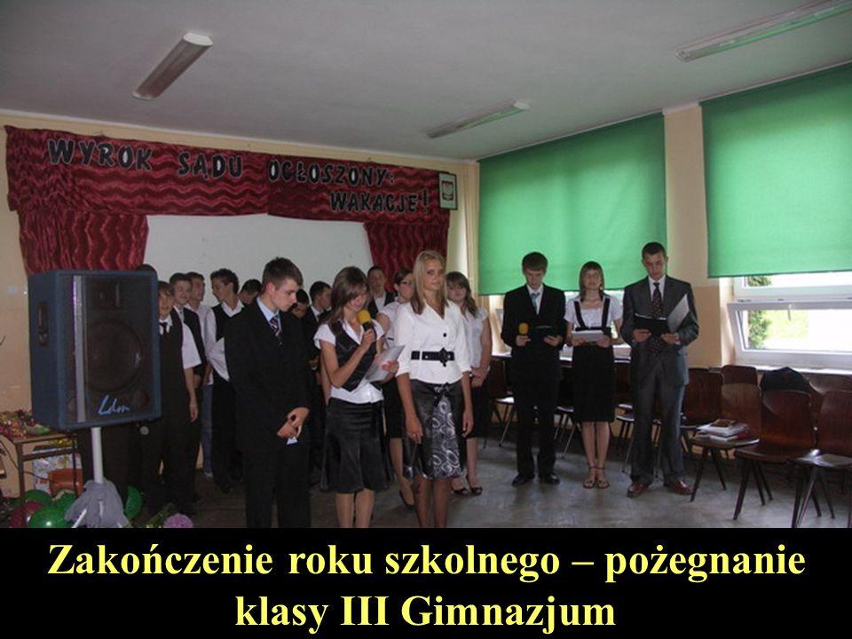 Zakończenie roku szkolnego – pożegnanie klasy III Gimnazjum