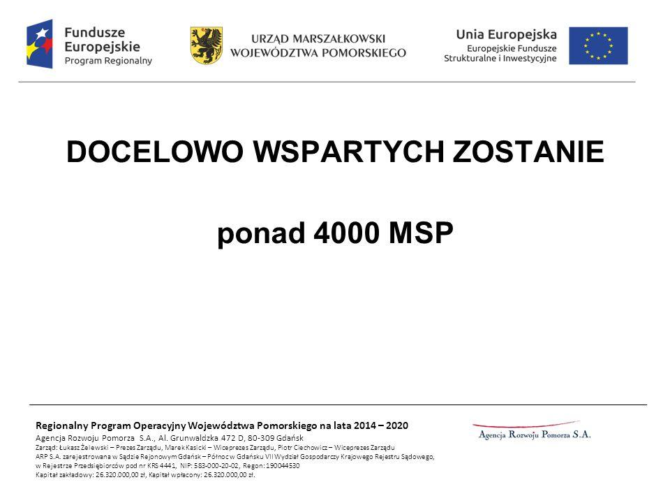 Regionalny Program Operacyjny Województwa Pomorskiego na lata 2014 – 2020 Agencja Rozwoju Pomorza S.A., Al. Grunwaldzka 472 D, 80-309 Gdańsk Zarząd: Ł