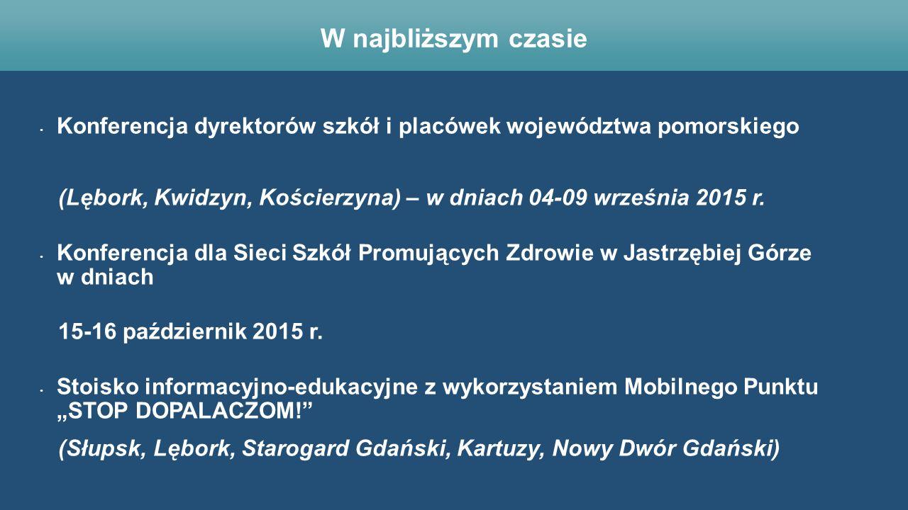Konferencja dyrektorów szkół i placówek województwa pomorskiego (Lębork, Kwidzyn, Kościerzyna) – w dniach 04-09 września 2015 r. Konferencja dla Sieci