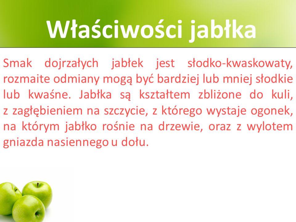 Przeciętne jabłko waży około 150 gramów.