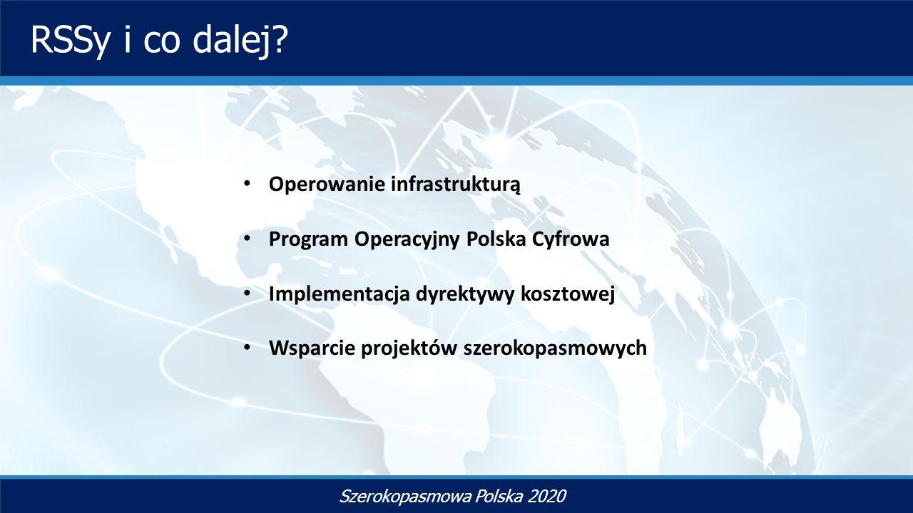 TYTUŁ SLAJDU Szerokopasmowa Polska 2020 RSSy i co dalej.