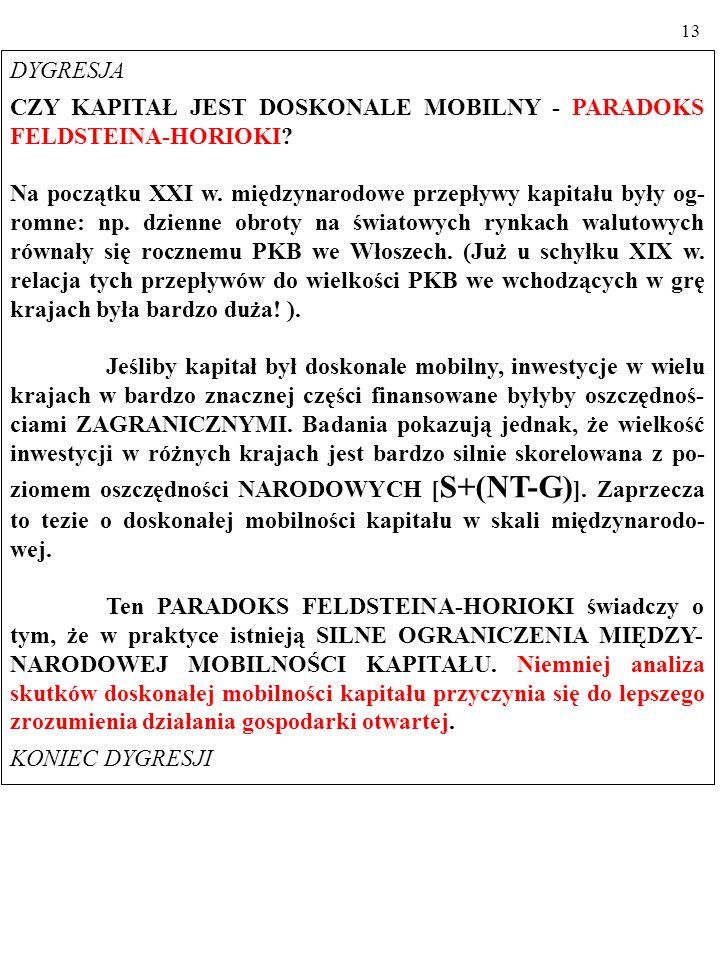 12 1.2. MODEL IS/LM W GOSPODARCE OTWARTEJ: MOBILNY KAPITAŁ