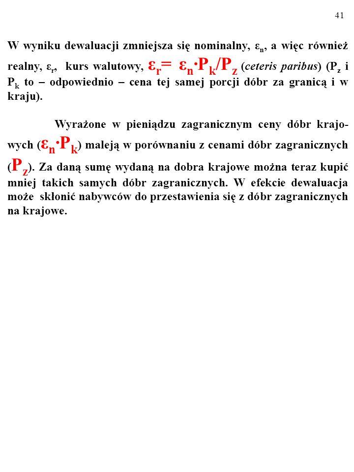 40 Alternatywą dla automatycznego KLASYCZNEGO PROCESU DOSTOSOWAWCZEGO jest POLITYKA GOSPODARCZA pańs- twa.