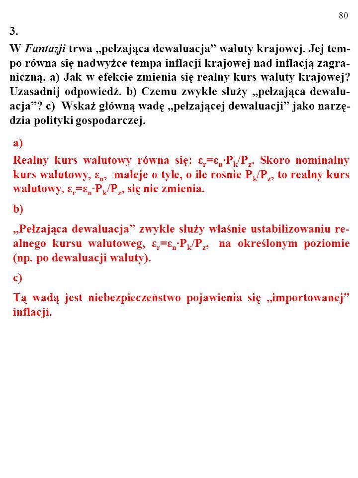 """79 2. Usuń błędy (gospodarka, o którą chodzi, jest """"keynesowska""""). a) Kurs jest stały: (i) (ii) a)(i) CF↑→M S ↑→i↓→AE↑→Y↑. b)(ii) CF↑→M S ↑→i↓→AE↑→Y↑."""