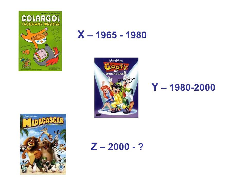 X – 1965 - 1980 Y – 1980-2000 Z – 2000 - ?