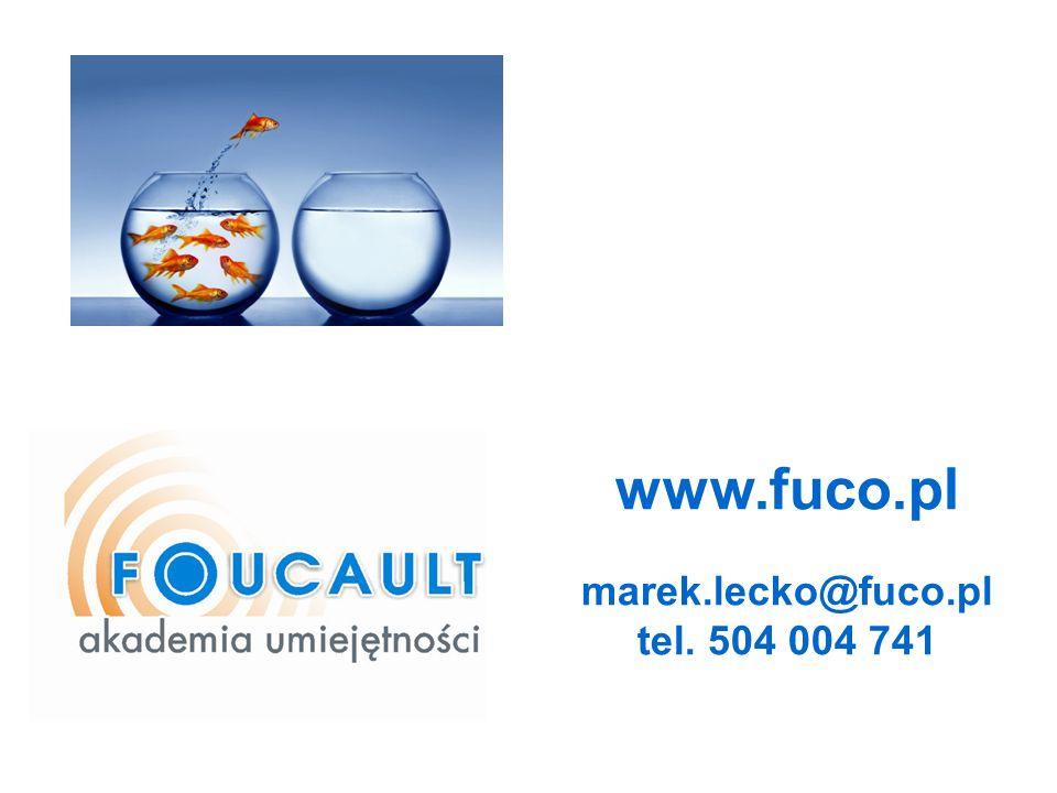 www.fuco.pl marek.lecko@fuco.pl tel. 504 004 741