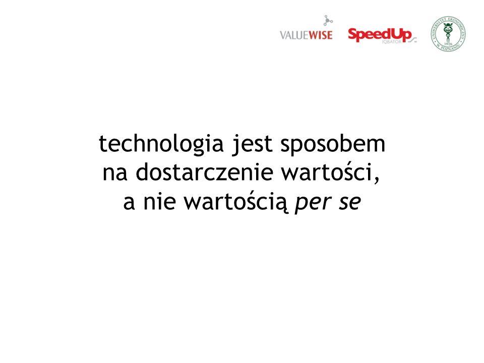 technologia jest sposobem na dostarczenie wartości, a nie wartością per se