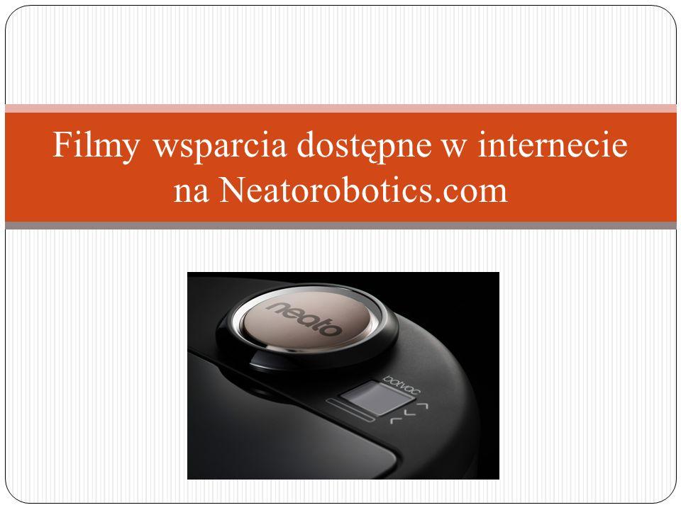 Filmy wsparcia dostępne w internecie na Neatorobotics.com