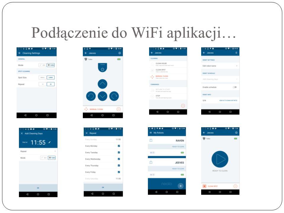Podłączenie do WiFi aplikacji…