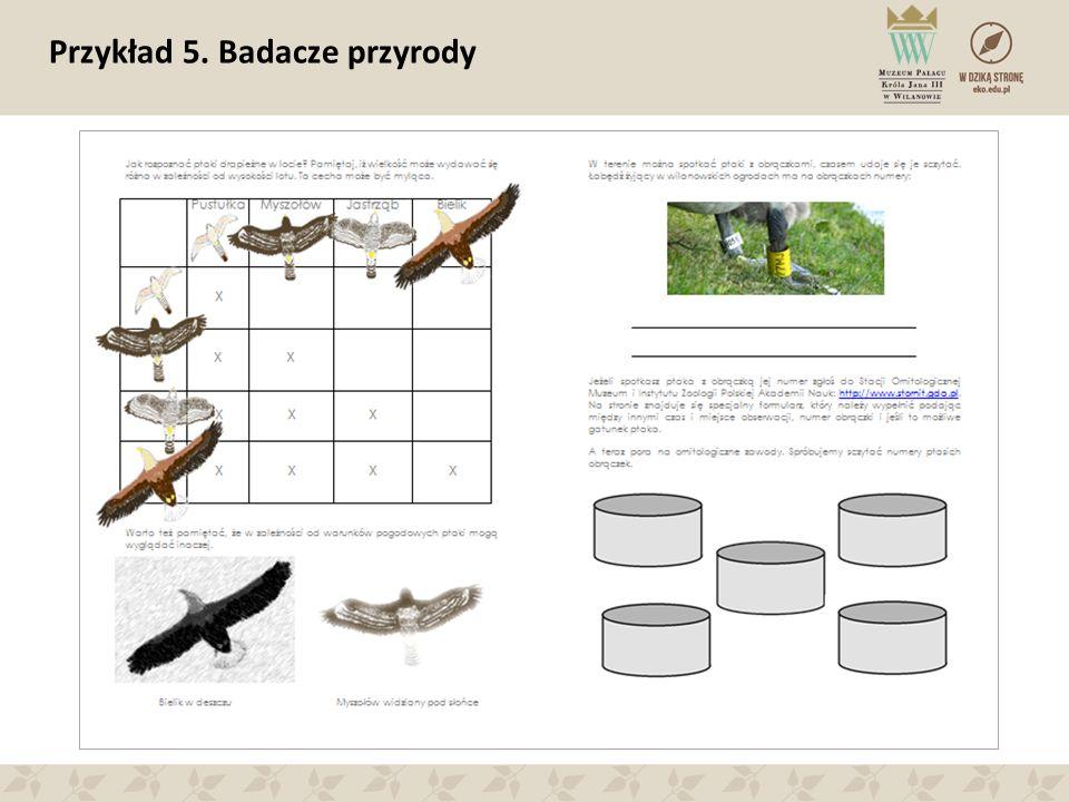 Przykład 5. Badacze przyrody