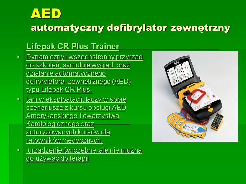 AED automatyczny defibrylator zewnętrzny Lifepak CR Plus Trainer Lifepak CR Plus Trainer  Dynamiczny i wszechstronny przyrząd do szkoleń, symuluje wy