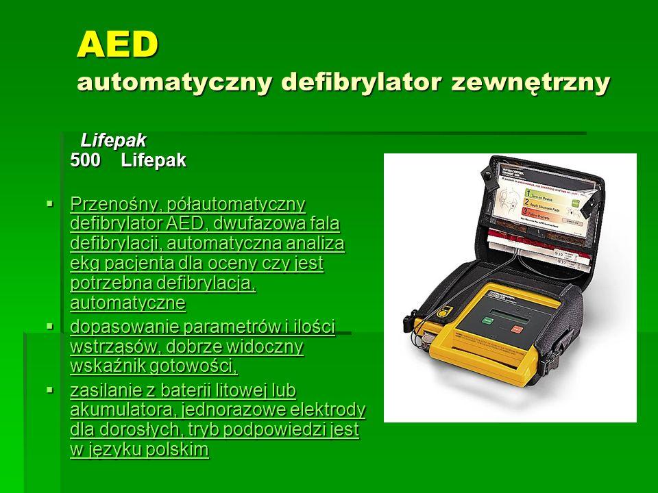 AED automatyczny defibrylator zewnętrzny Lifepak 500 Lifepak Lifepak 500 Lifepak  Przenośny, półautomatyczny defibrylator AED, dwufazowa fala defibry