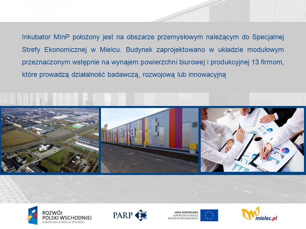 Inkubator MInP położony jest na obszarze przemysłowym należącym do Specjalnej Strefy Ekonomicznej w Mielcu.