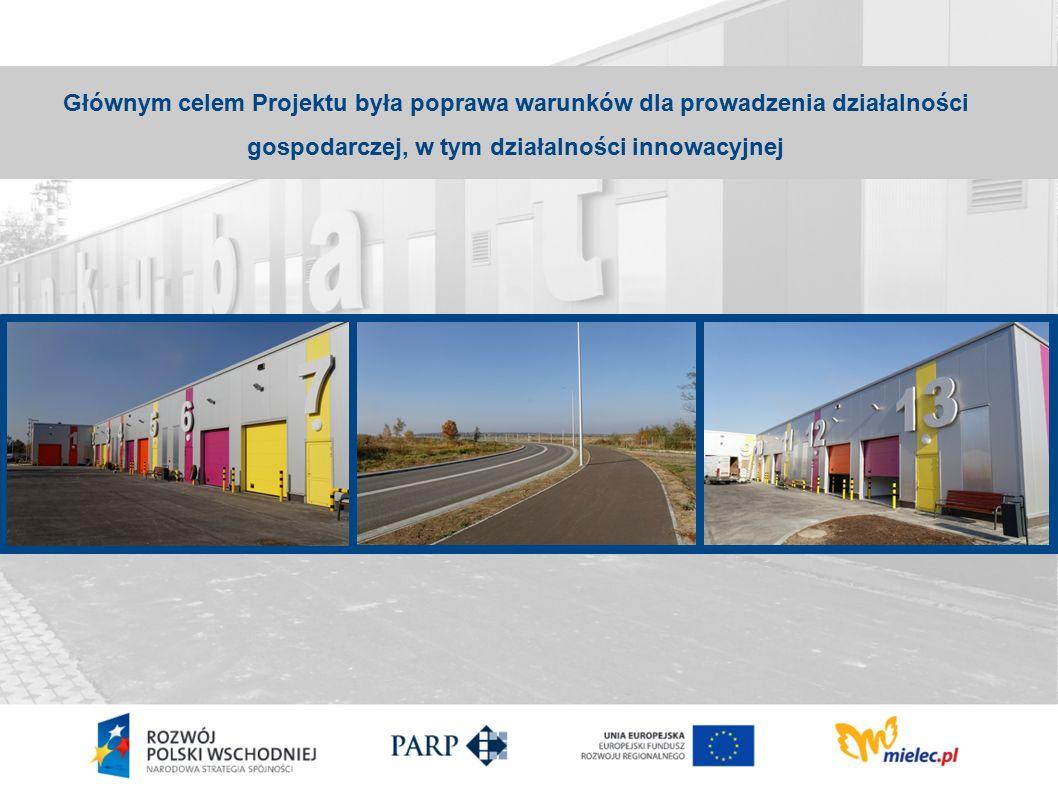Głównym celem Projektu była poprawa warunków dla prowadzenia działalności gospodarczej, w tym działalności innowacyjnej