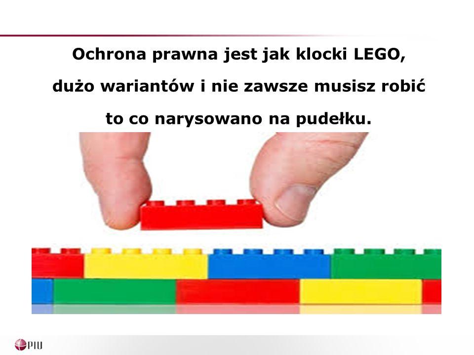 Ochrona prawna jest jak klocki LEGO, dużo wariantów i nie zawsze musisz robić to co narysowano na pudełku.