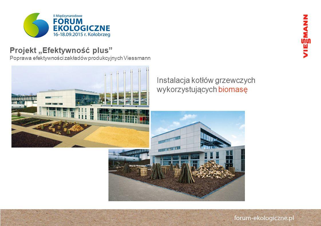 """Projekt """"Efektywność plus Poprawa efektywności zakładów produkcyjnych Viessmann Instalacja kotłów grzewczych wykorzystujących biomasę"""