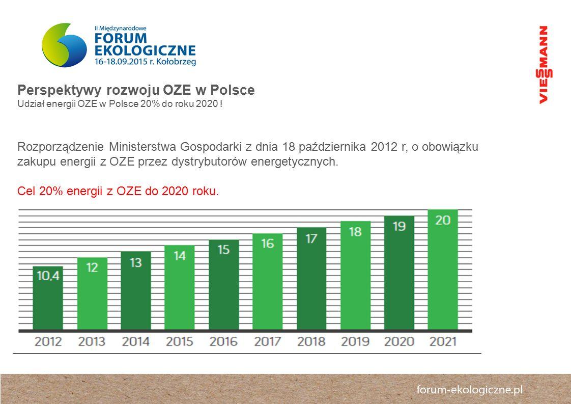 Perspektywy rozwoju OZE w Polsce Udział energii OZE w Polsce 20% do roku 2020 .