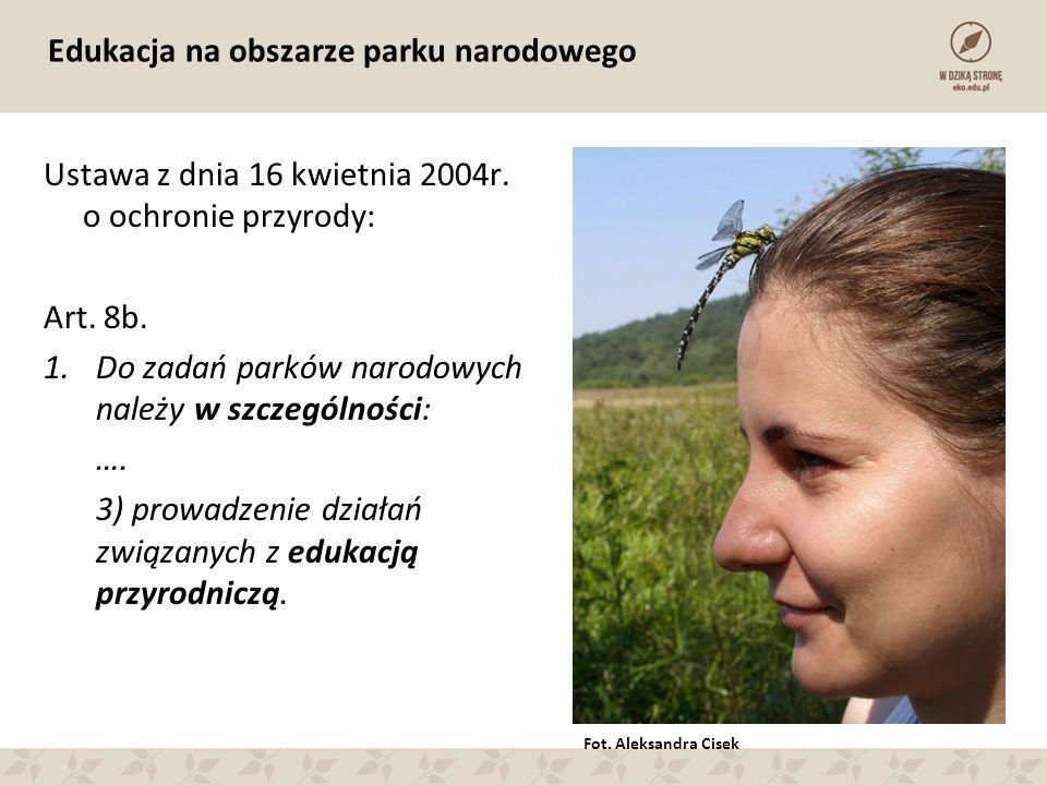 Edukacja na obszarze parku narodowego Ustawa z dnia 16 kwietnia 2004r.