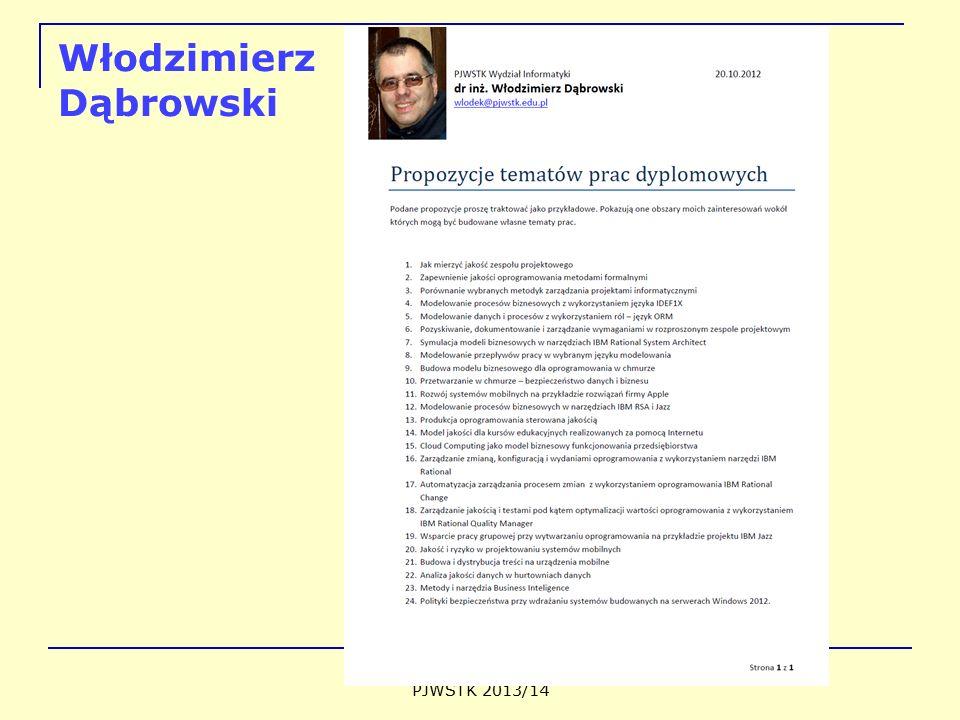 Włodzimierz Dąbrowski PJWSTK 2013/14
