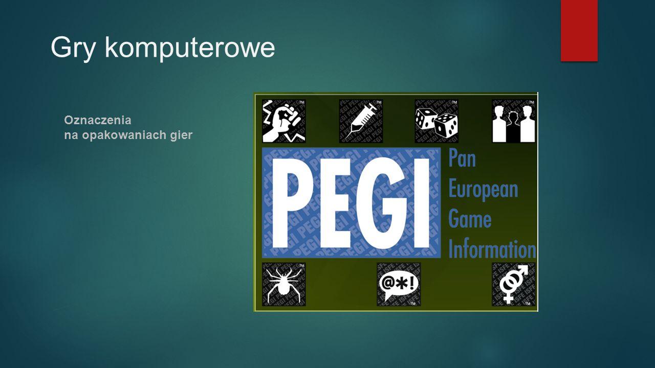 Gry komputerowe Oznaczenia na opakowaniach gier