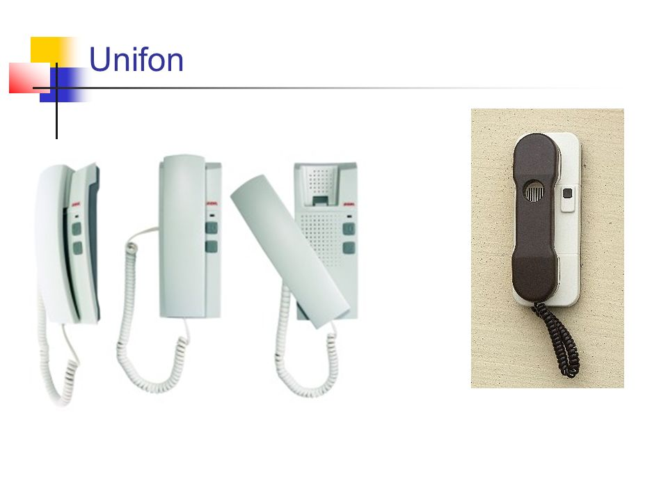 Do najczęściej spotykanych należą unifony do instalacji 2-, 4- lub 5- przewodowych.