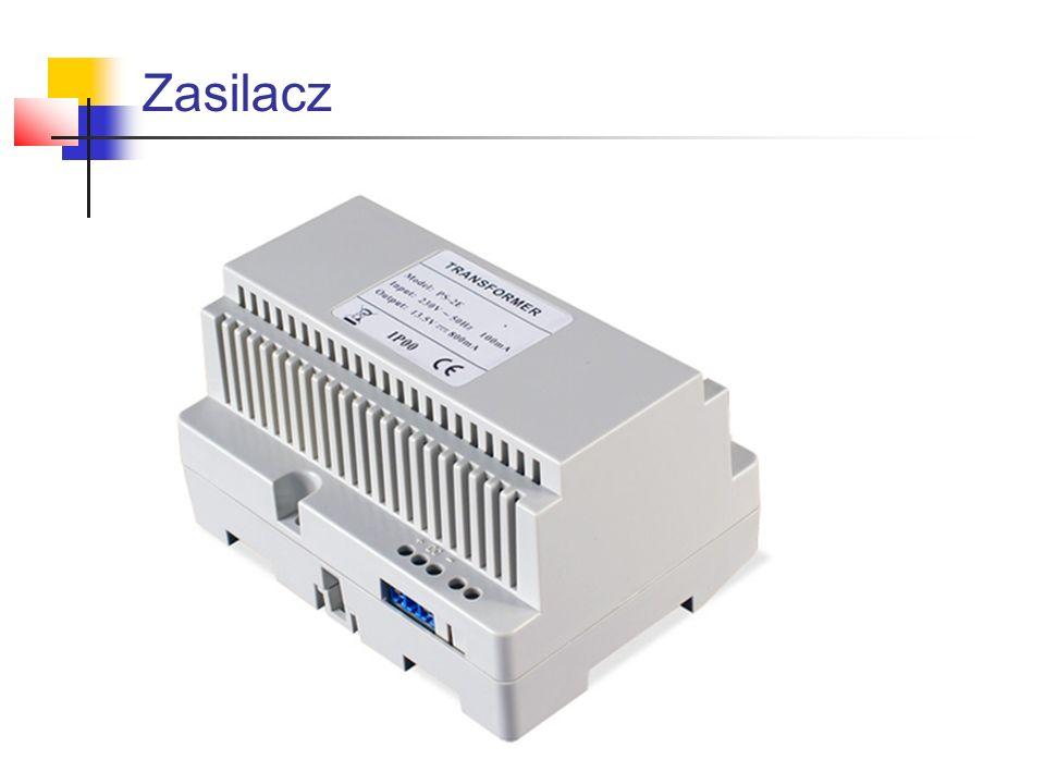Zasilacz podłączenie Opis wyprowadzeń: EZ – zacisk elektrozaczepu Z1, Z2 – wolne wtyki KE – wejście sterowania zaczepu (poprzez podanie masy) SG – wejście sygnału generatora (wywołania) MU – mikrofon unifonu MK – mikrofon kasety GK – głośnik kasety SU – słuchawka unifonu
