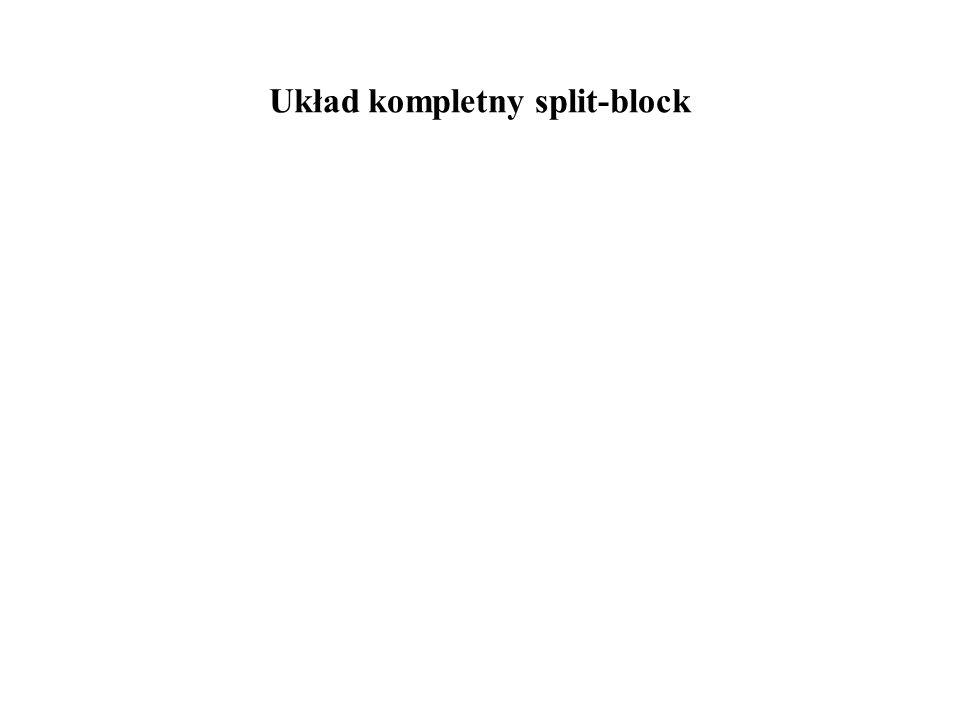 Układ kompletny split-block