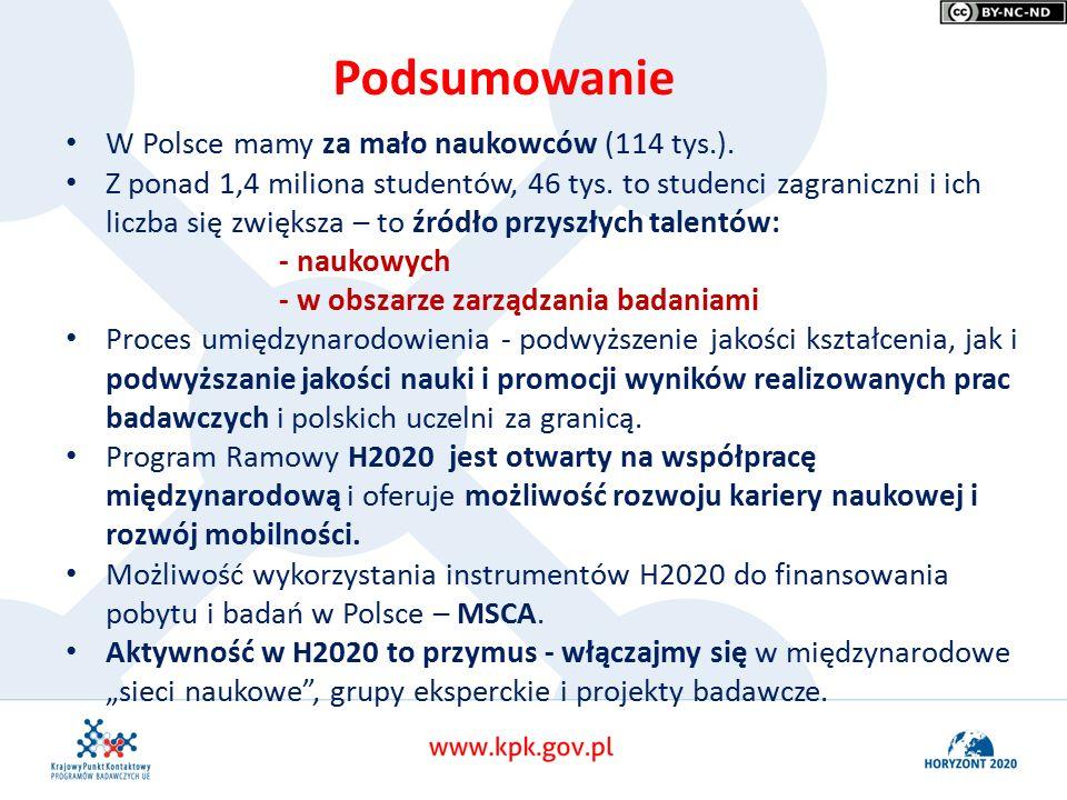 W Polsce mamy za mało naukowców (114 tys.). Z ponad 1,4 miliona studentów, 46 tys.