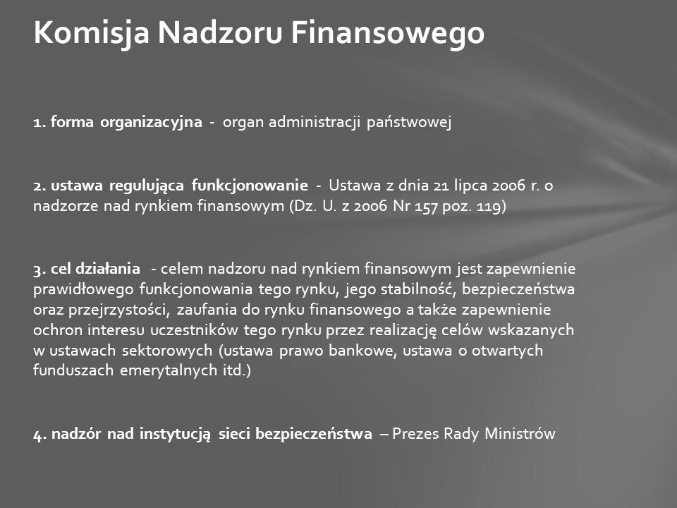 1. forma organizacyjna - organ administracji państwowej 2.