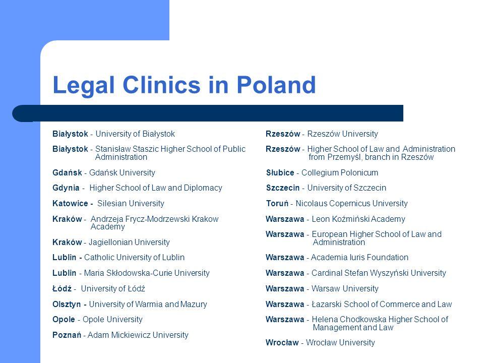Legal Clinics Foundation's achievements The Foundation has the status of the public benefit organization.