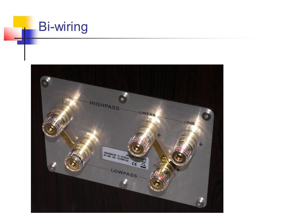 Bi-amping Polega na sterowaniu poszczególnych torów (niskotonowego oraz średnio- i wysokotonowego) osobnymi wzmacniaczami mocy.