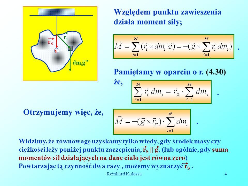 Reinhard Kulessa15 Zakreślane pole przez promień r wynosi;, (5.6) czyli.
