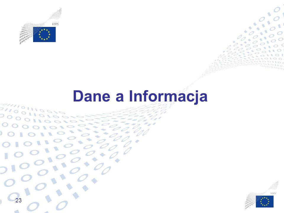 23 Dane a Informacja
