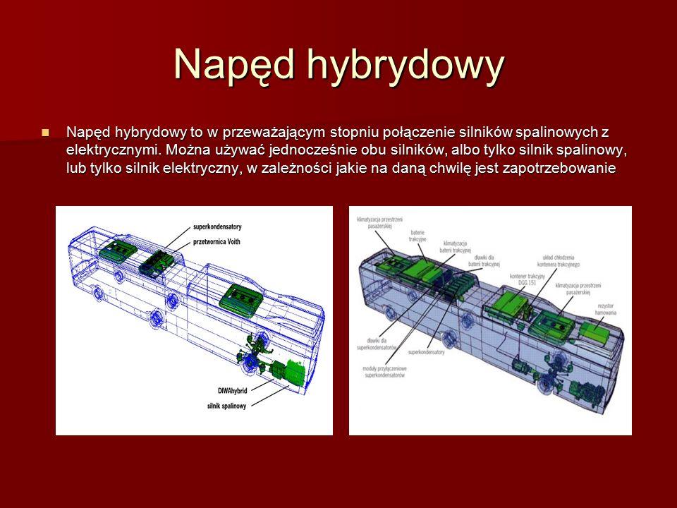 Napęd hybrydowy Napęd hybrydowy to w przeważającym stopniu połączenie silników spalinowych z elektrycznymi.