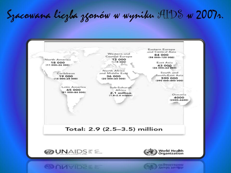 Autorzy poniższej analizy, z 2002r., przeprowadzonej przez amerykański wywiad przedstawiają szacunkową liczbę osób zakażonych HIV do roku 2010, podobnie oceniają także eksperci z ONZ.