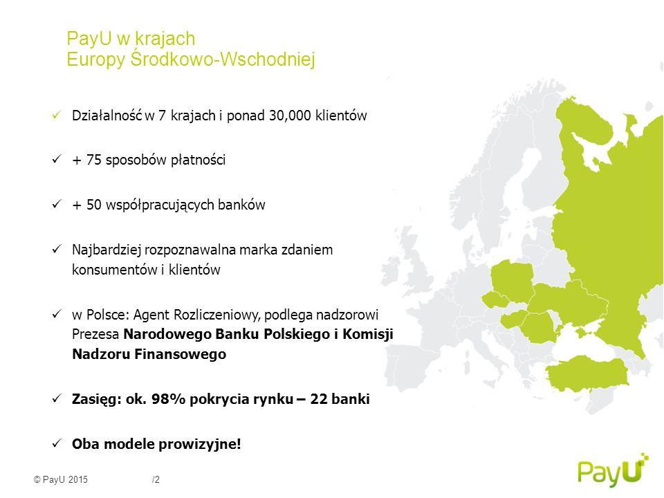 © PayU 2015/3 Nasi Klienci w Polsce