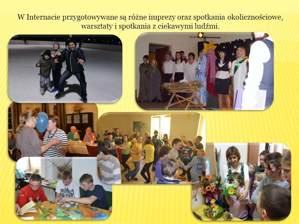 W Internacie przygotowywane są różne imprezy oraz spotkania okolicznościowe, warsztaty i spotkania z ciekawymi ludźmi.