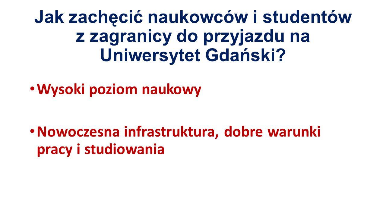 Jak zachęcić naukowców i studentów z zagranicy do przyjazdu na Uniwersytet Gdański.