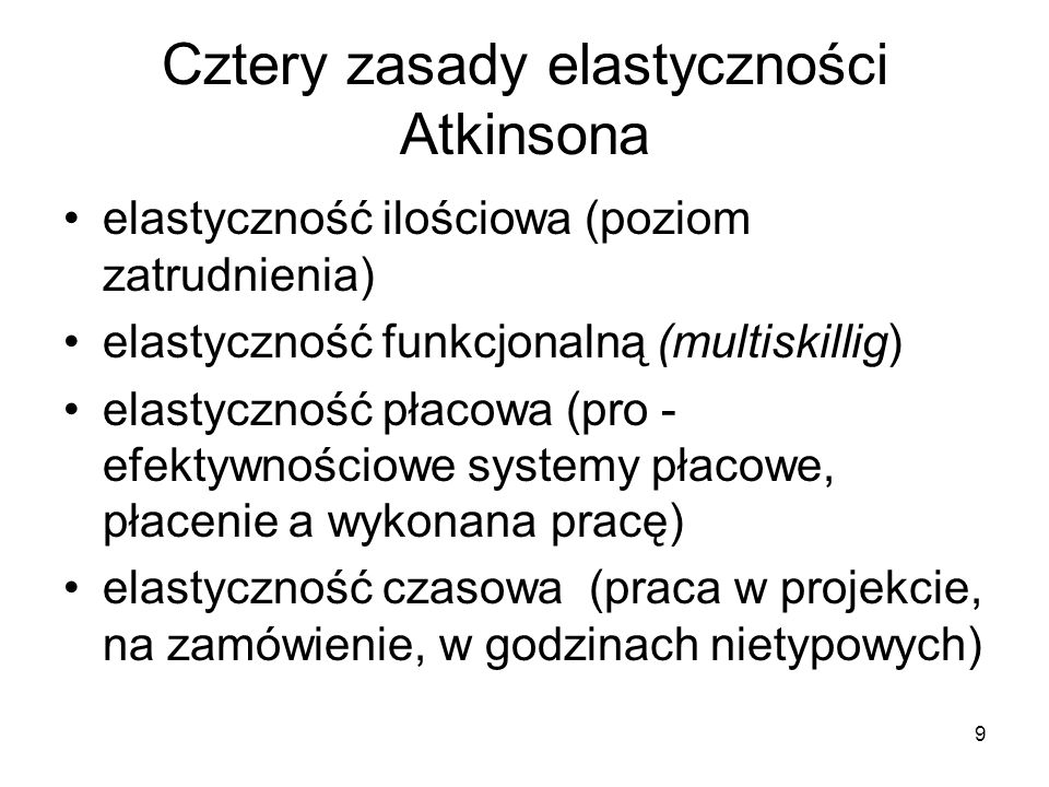 20 Wzorzec polski flexicurity Diagnoza rynku: Segmentacja pracujących jest najważniejszym problemem udział zatrudnionych na umowy o pracę na czas ograniczony jest silną tendencją.