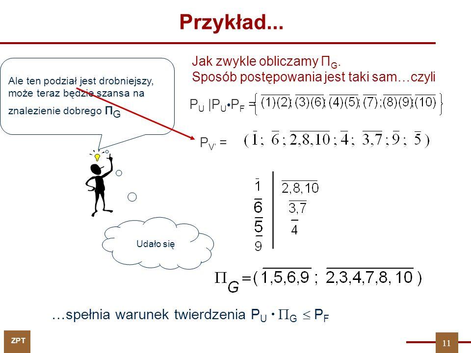 ZPT Przykład...