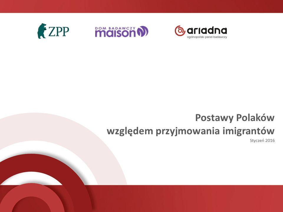 Postawy Polaków względem przyjmowania imigrantów Styczeń 2016