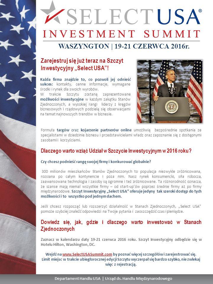 Departament Handlu USA | Urząd ds.